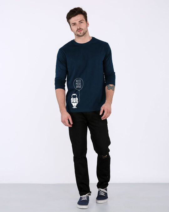 Shop More Space Full Sleeve T-Shirt