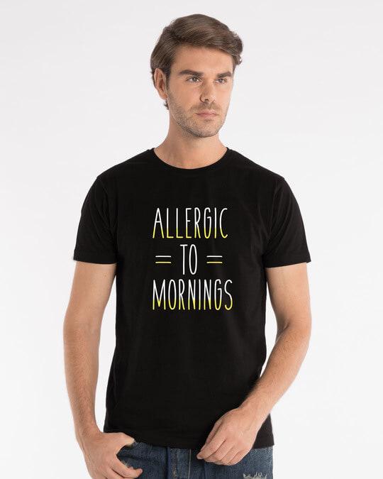 Shop Morning Allergies Half Sleeve T-Shirt-Back