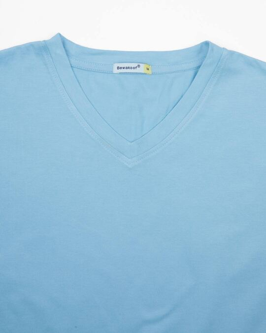 Shop Morning Blue V-Neck T-Shirt