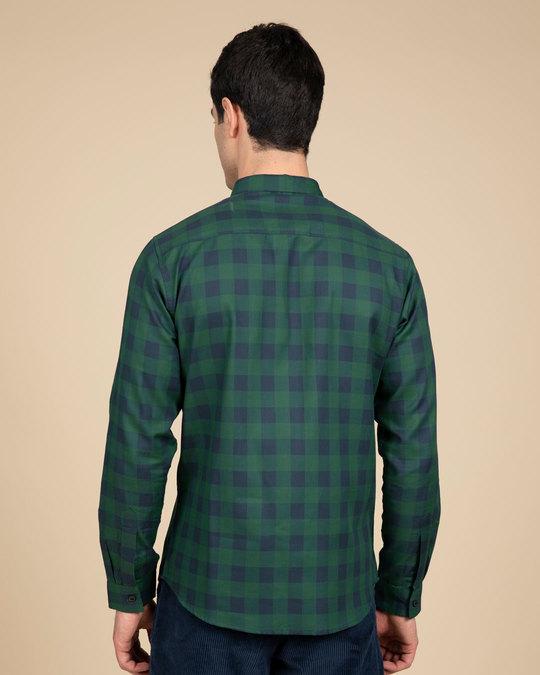 Shop Moss Blue Checked Shirt-Design