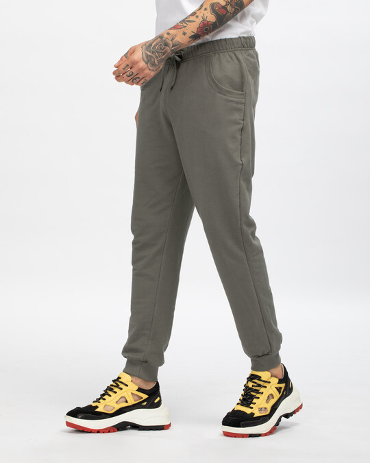Shop Moss Green Casual Jogger Pant-Back