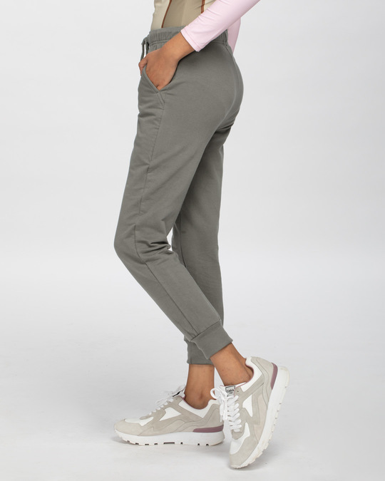 Shop Moss Green Joggers-Back