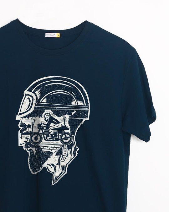 Shop Moto Racer Half Sleeve T-Shirt-Front