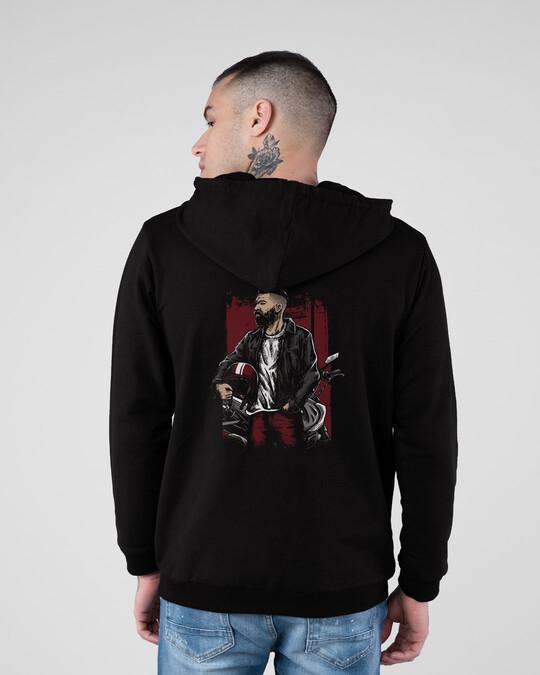 Shop Motohead Outlaws Fleece Hoodie-Full