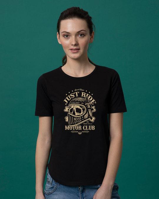 Shop Motor Club Basic Round Hem T-Shirt-Front
