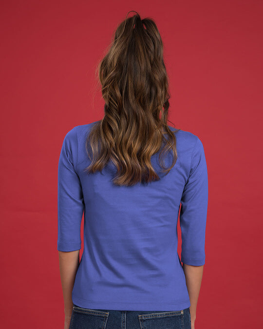 Shop Mountain Calling Round Neck 3/4th Sleeve T-Shirt-Back