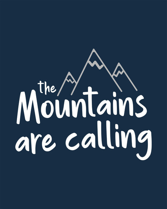 Shop Mountain Calling Round Neck 3/4th Sleeve T-Shirt
