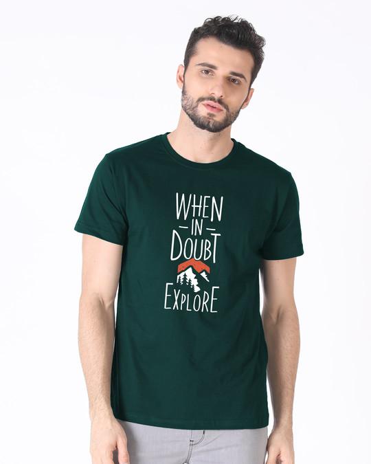 Shop Mountain Explorer Half Sleeve T-Shirt-Back