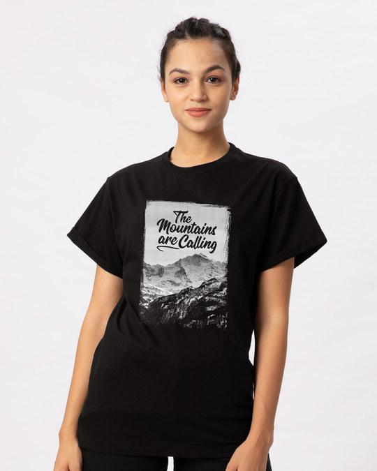 Shop Mountain Travels Boyfriend T-Shirt-Front