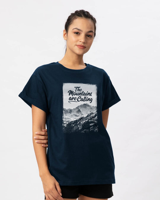 Shop Mountain Travels Boyfriend T-Shirt-Back