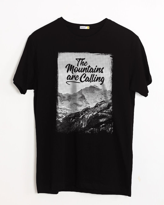 Shop Mountain Travels Half Sleeve T-Shirt-Front