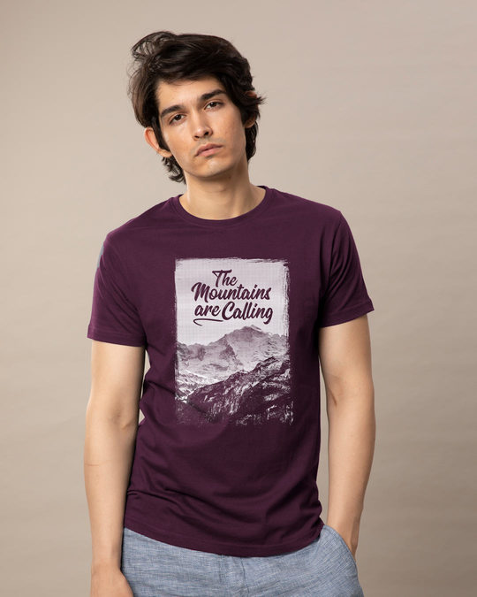Shop Mountain Travels Half Sleeve T-Shirt-Back