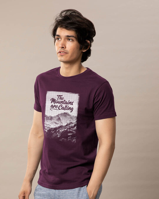 Shop Mountain Travels Half Sleeve T-Shirt-Full