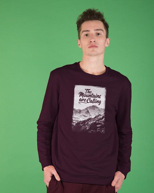 Shop Mountain Travels Fleece Sweater-Front