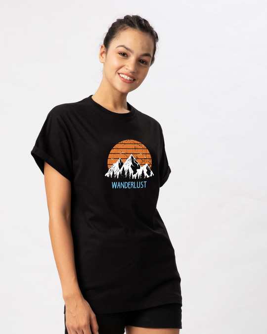 Shop Mountain Wanderlust Boyfriend T-Shirt-Back