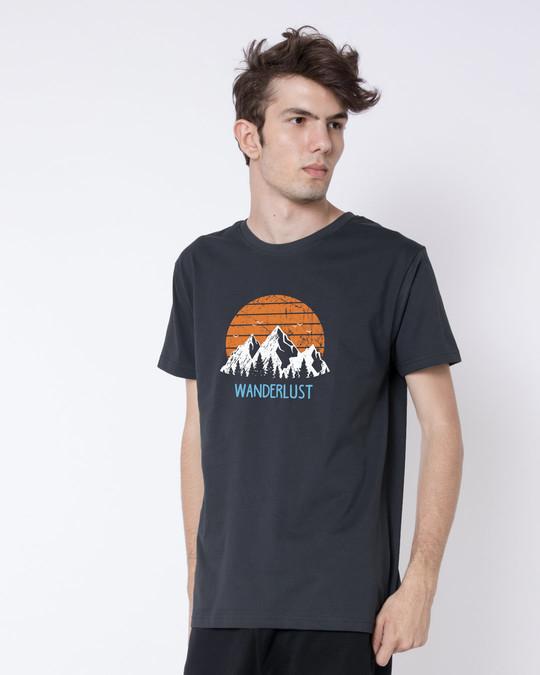Shop Mountain Wanderlust Half Sleeve T-Shirt-Design
