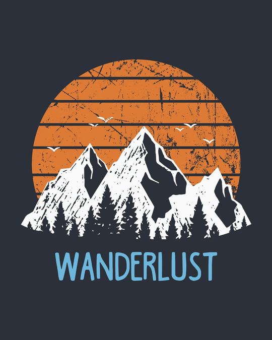Shop Mountain Wanderlust Half Sleeve T-Shirt