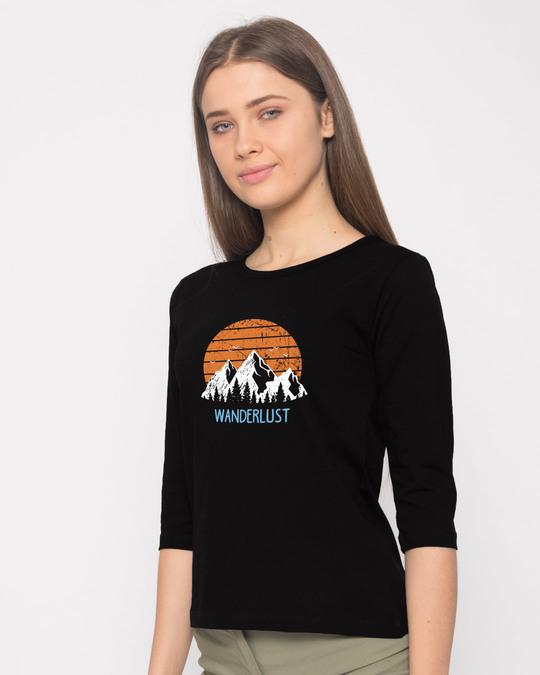 Shop Mountain Wanderlust Round Neck 3/4th Sleeve T-Shirt-Back