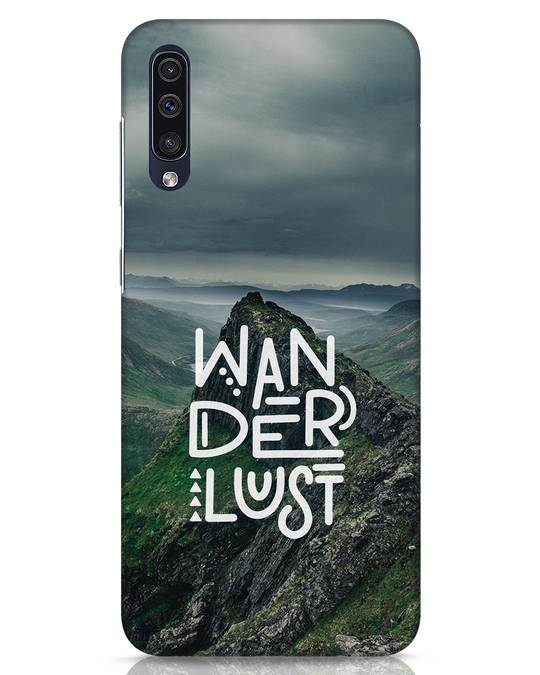 Shop Mountain Wanderlust Samsung Galaxy A50 Mobile Cover-Front
