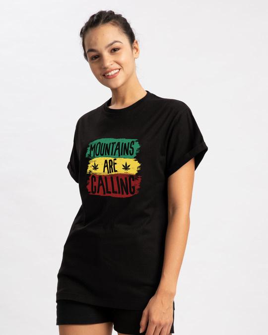 Shop Mountains Are Calling Rasta Boyfriend T-Shirt-Back