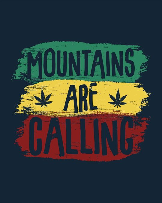 Shop Mountains Are Calling Rasta Full Sleeve T-Shirt
