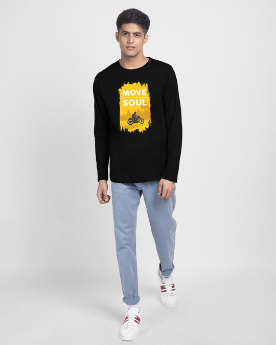 Shop Move The Soul Biker Full Sleeve T-Shirt Black-Full