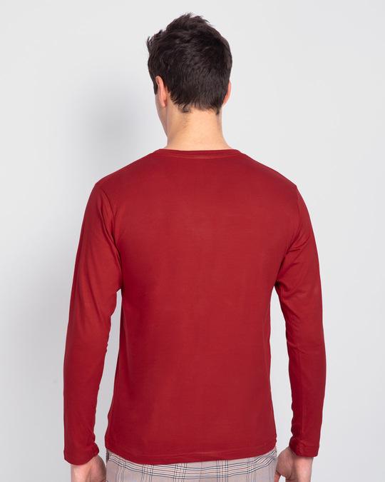 Shop Move The Soul Biker Full Sleeve T-Shirt Bold Red-Design