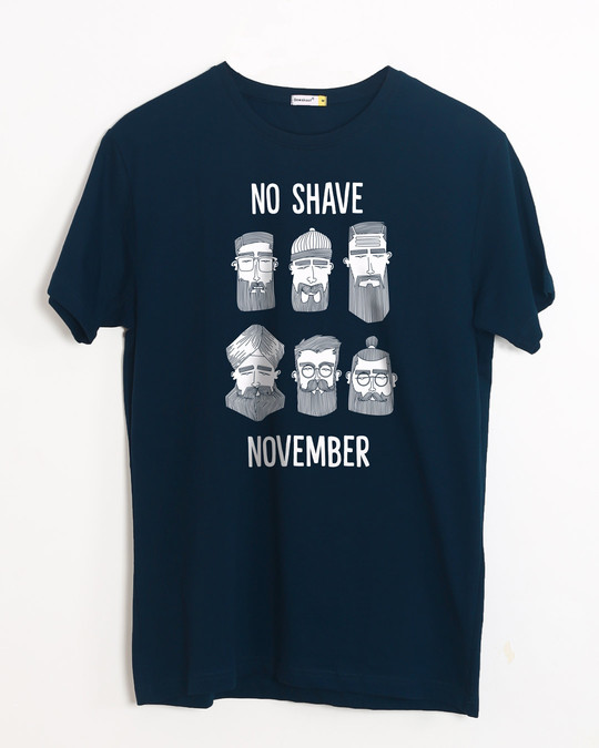 Shop Movember Half Sleeve T-Shirt-Front