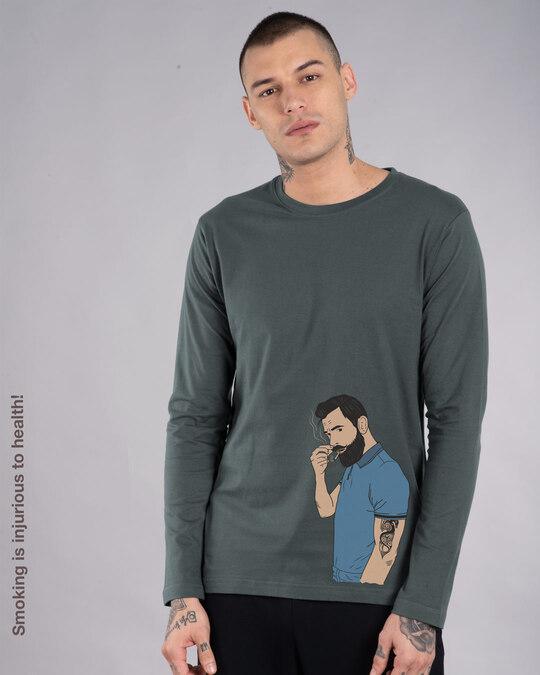 Shop Mr. Beard Man Full Sleeve T-Shirt-Front