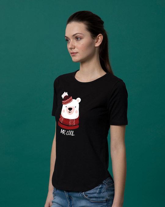 Shop Mr.cool Bear Basic Round Hem T-Shirt-Back