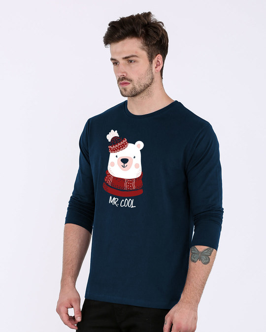 Shop Mr.cool Bear Full Sleeve T-Shirt-Back