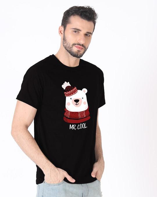 Shop Mr.cool Bear Half Sleeve T-Shirt-Full