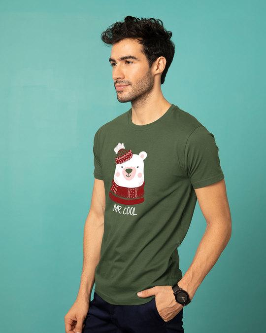 Shop Mr.cool Bear Half Sleeve T-Shirt-Full