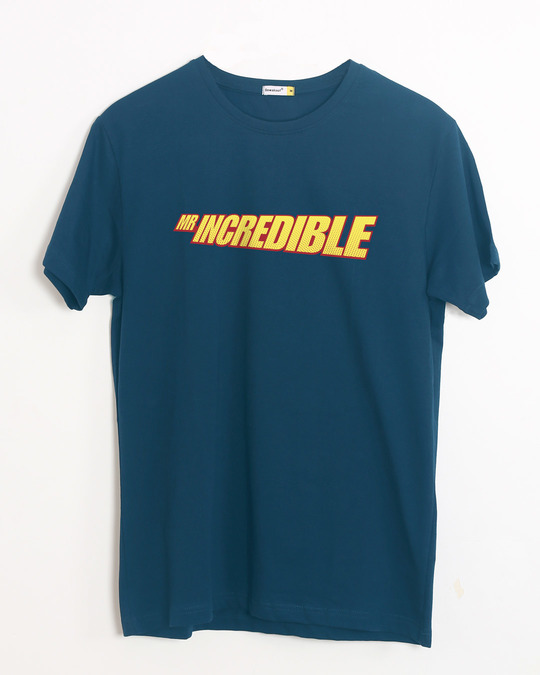 Shop Mr Incredible Typo Half Sleeve T-Shirt (DL)-Front
