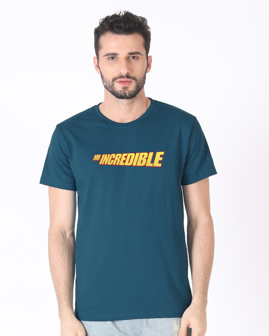 Shop Mr Incredible Typo Half Sleeve T-Shirt (DL)-Back