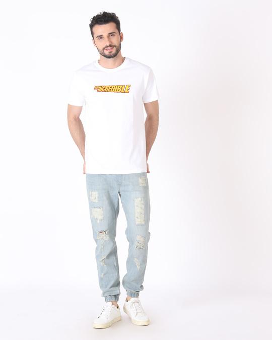 Shop Mr Incredible Typo Half Sleeve T-Shirt (DL)