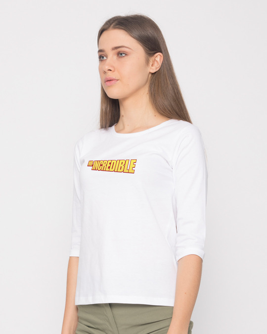 Shop Mr Incredible Typo Round Neck 3/4th Sleeve T-Shirt (DL)-Back