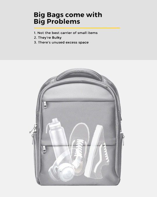 Shop Mr. Perfection Printed Small Backpack-Back