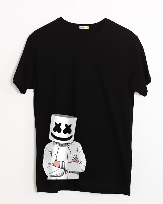 Shop Mrshmello Character Half Sleeve T-Shirt-Front