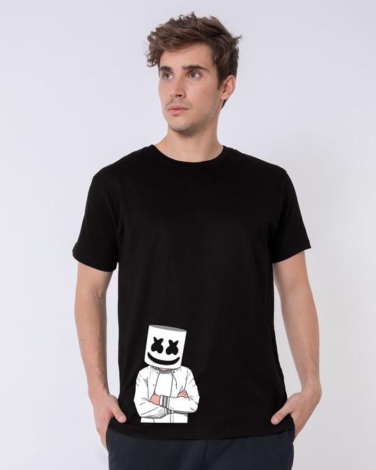 Shop Mrshmello Character Half Sleeve T-Shirt-Back