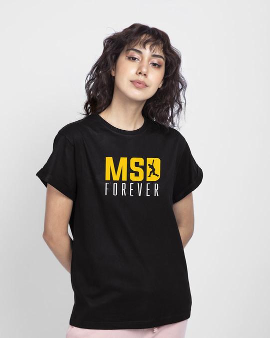 Shop MSD Forever Boyfriend T-Shirt Black-Back