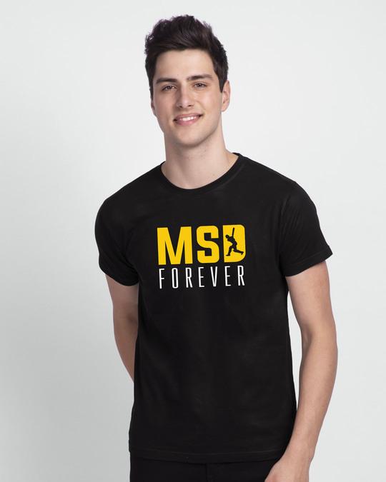 Shop MSD Forever Front-Back Half Sleeve T-Shirt Black-Back