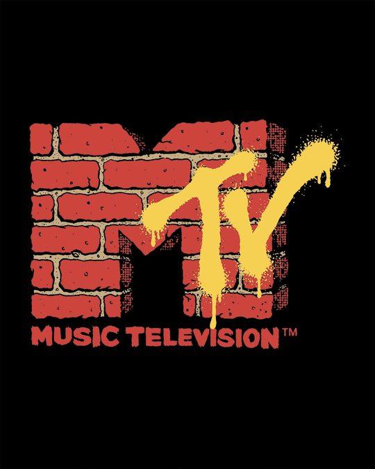 Shop Mtv Wall Boyfriend T-Shirt (MTL)