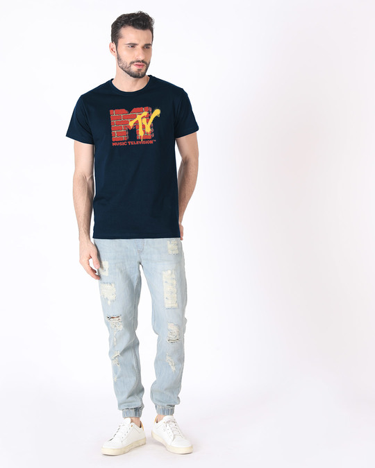 Shop Mtv Wall Half Sleeve T-Shirt (MTL)