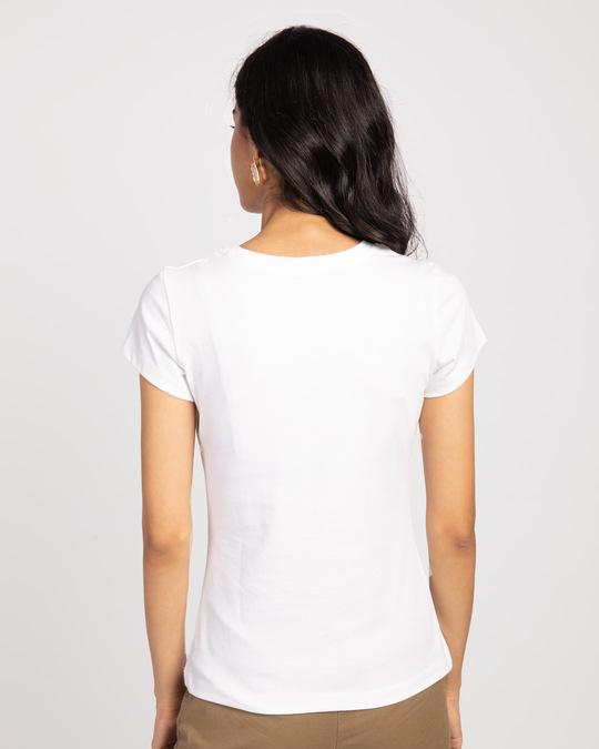 Shop Mulan Flower Gold Print Half Sleeve T-Shirt (DL)-Back