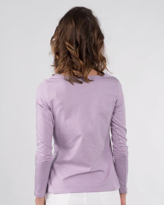 Shop Mulan Flower Gold Print Scoop Neck Full Sleeve T-Shirt (DL)-Back