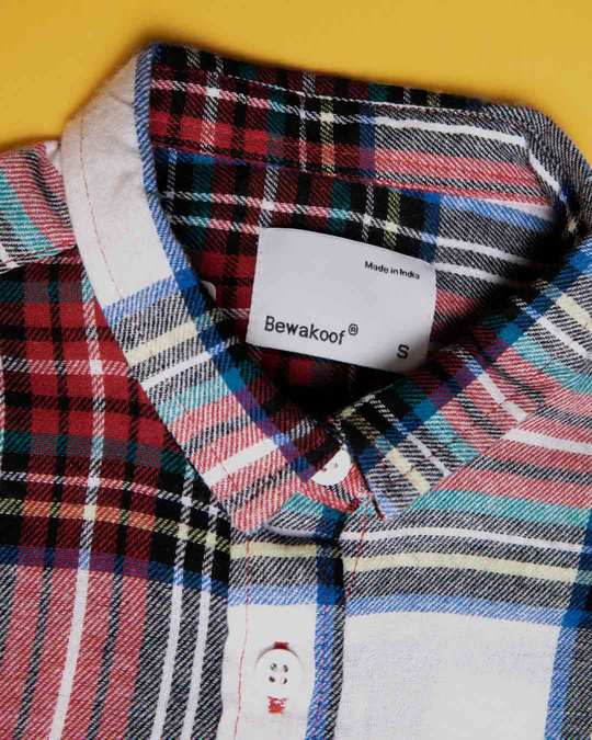 Shop Multi Color Check Slim Shirt