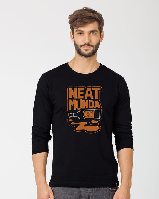 Shop Munda Neat Full Sleeve T-Shirt-Front