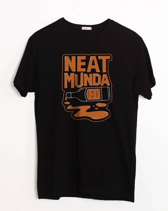 Shop Munda Neat Half Sleeve T-Shirt-Front