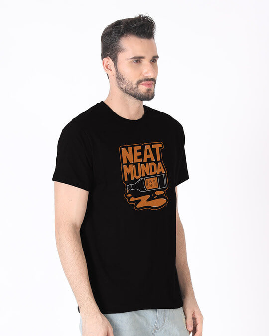 Shop Munda Neat Half Sleeve T-Shirt-Full